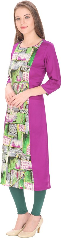 Tanvi Abstract Women's Straight Kurta(Purple)