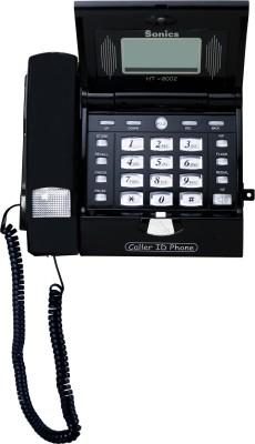 Sonics HT-2002 BLACK Corded Landline Phone(Black)