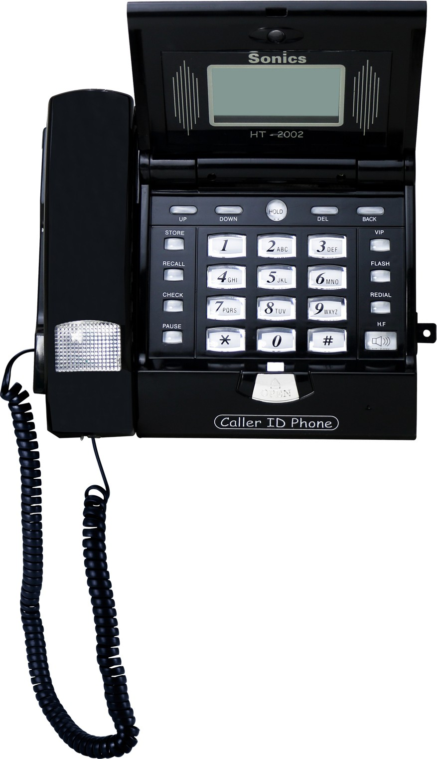 View Sonics HT-2002 BLACK Corded Landline Phone(Black) Home Appliances Price Online(Sonics)