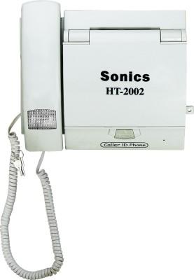Sonics HT-2002 WHITE Corded Landline Phone(White)