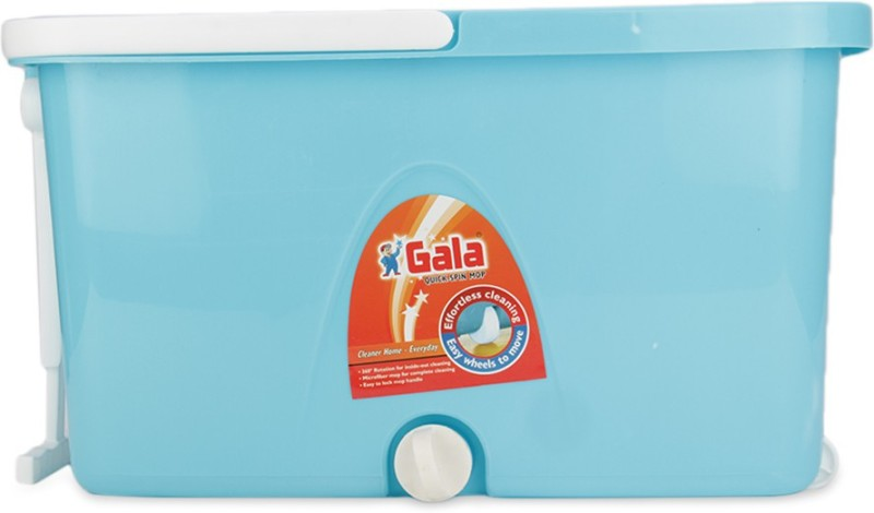 Gala Spin Popular Mop Set(Built in Wringer Blue, White)