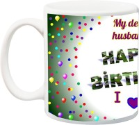 iZor Gift for Hubby;My Dear Husband Happy Birthday I Love You Special HD printed Ceramic Mug