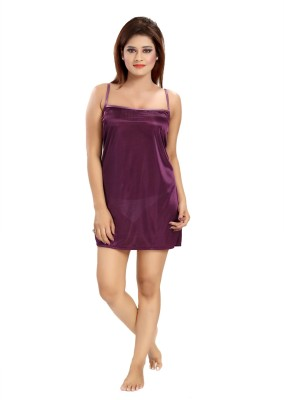 Shopping World Women's Nighty(Purple) at flipkart