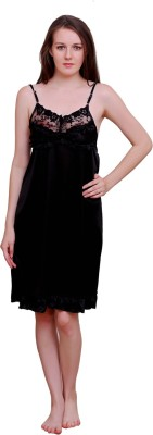 Bombshell Women's Nighty(Black) at flipkart