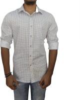 Snow Leopard Formal Shirts (Men's) - Snow Leopard Men's Printed Formal White Shirt