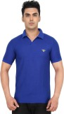 SCC SN Solid Men's Polo Neck Blue T-Shir...