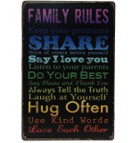 Lifestyle-You (20x30 Cms) Family Rules M...