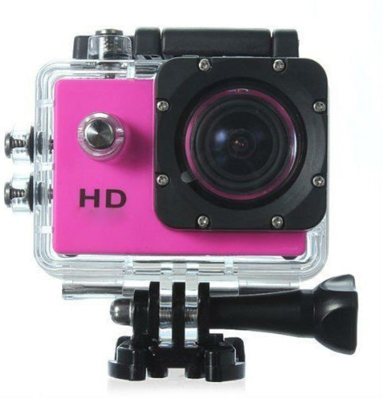 View Mezire Action Adventure camera (04) pink 130 degree Wide angle lens Sports & Action Camera(Pink) Camera Price Online(Mezire)