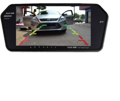 Shrih 7 Inch Car Full HD Reverse Parking Screen With Bluetooth Camera Black LED(18 cm)
