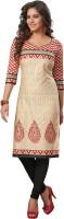 Salwar Studio Women's Clothing - Salwar Studio Cotton Floral Print, Geometric Print, Printed Kurti Fabric(Un-stitched)