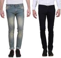 X cross Jeans (Men's) - X-Cross Slim Men's Grey, Black Jeans(Pack of 2)