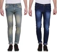 X cross Jeans (Men's) - X-Cross Slim Men's Grey, Dark Blue Jeans(Pack of 2)