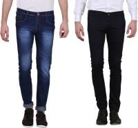 X cross Jeans (Men's) - X-Cross Slim Men's Dark Blue, Black Jeans(Pack of 2)