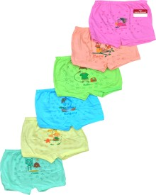 Pride Apparel Brief For Baby Girls(Multicolor Pack of 6)