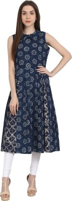 Nayo Printed Women's A-line Kurta(Blue, White) at flipkart
