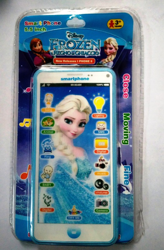 Jaibros Frozen Musical Learning Smart Phone for kids(Multicolor)
