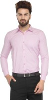 Jainish Formal Shirts (Men's) - Jainish Men's Striped Formal Pink Shirt