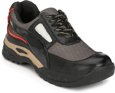 Eego Italy Steel Toe Safety Shoes Boots(Black)