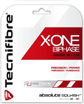 Tecnifibre X-ONE BIPHASE 1.18 RED 18 Squash String - 10 m(Multicolor)