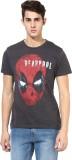 Deadpool Printed Men's Round Neck Grey, ...