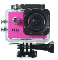 Mezire Sports camera (01)pink 130 degree Wide angle lens Sports & Action Camera(Multicolor)