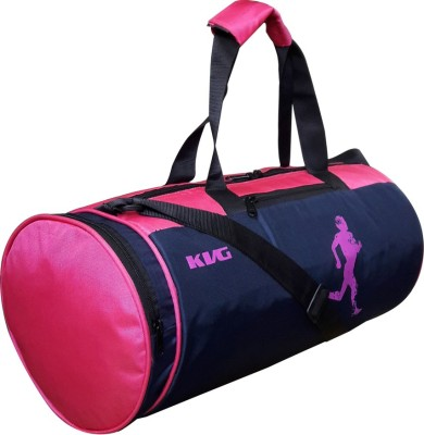 KVG KVG SYNERGY GYM BAG (Expandable) Gym Bag(Blue, Pink)