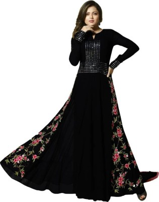 Fashionuma Georgette Embroidered Semi-stitched Salwar Suit Dupatta Material at flipkart