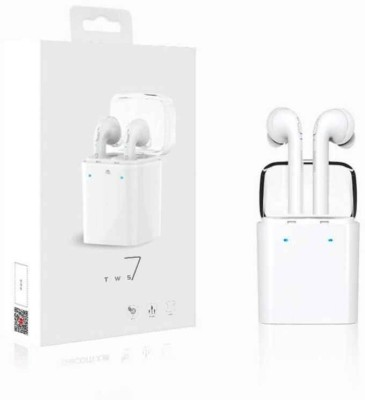 Voltegic ™ Stereo Dynamic GF7-TWS-Type-004 Wireless bluetooth Headphones(White, In the Ear) at flipkart