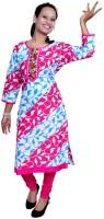 Port Women's Clothing - Port Casual Printed Women's Kurti(Multicolor)