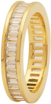 Voylla Artificial Classic Plain Brass Cubic Zirconia Yellow Gold Plated Ring at flipkart