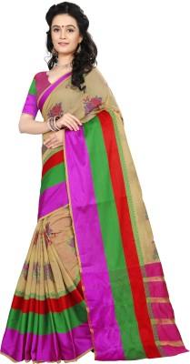 Laddeez Self Design, Woven Kanjivaram Handloom Art Silk Saree(Multicolor) at flipkart