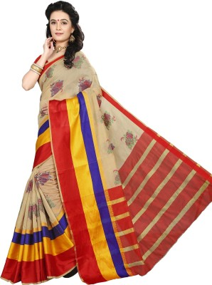 Laddeez Self Design, Woven Kanjivaram Handloom Art Silk Saree(Multicolor) at flipkart