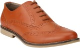 Real Blue Brouge Lace Up Shoes (Tan)
