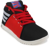 11e Hgs5 Casual Shoes (Black, Red)