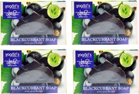 Khadi Herbal Premium 100 %% BlackCurrent With Shea Butter & Aromatherapy Handmade Soap(400 g, Pack of 4)