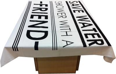 Miyanbazaz Self Design 6 Seater Table Cover(Black $ White, Cotton) at flipkart