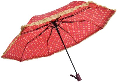 Murano 3 fold auto open LV print desing beautiful Umbrella(Brown)