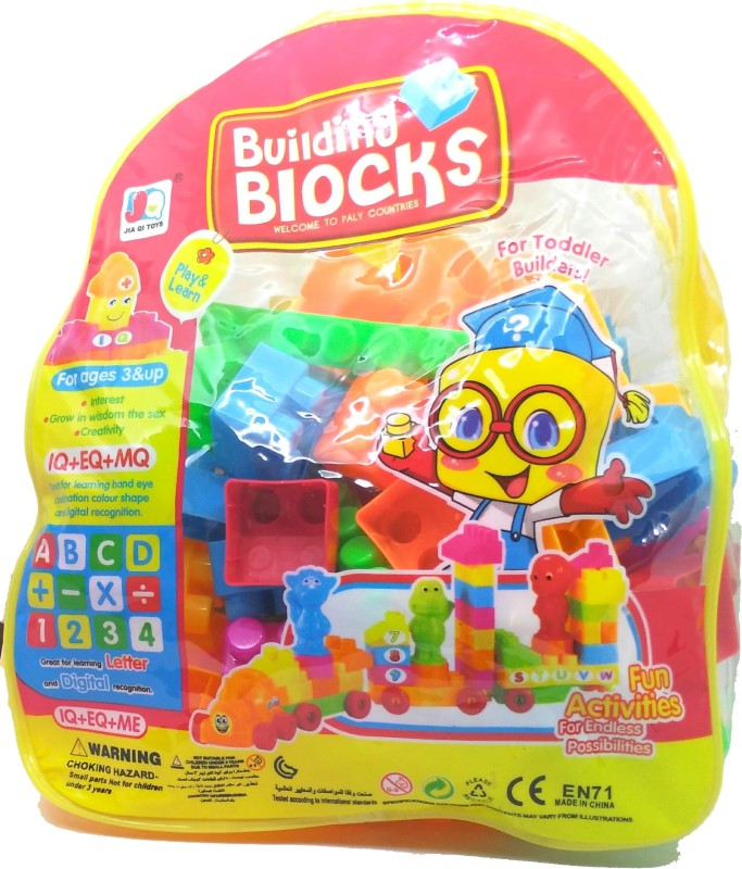 HALO NATION Blocks Play set with Alphabets Number and Shapes - Big(Multicolor)