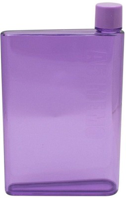 Shopo �Portable Reusable Slim A5 Size Notebook Water Bottle 420 ml Bottle(Pack of 1, Purple) at flipkart