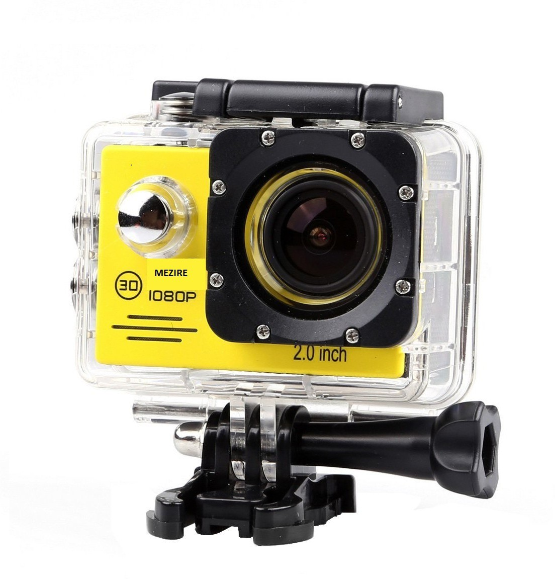 Mezire HD Adventure camera (04) gold 130 degree wide lens Sports & Action Camera(Yellow)