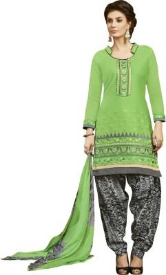 Saara Cotton Embroidered Salwar Suit Dupatta Material(Un-stitched) at flipkart