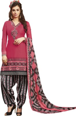 Saara Cotton Geometric Print, Embroidered Salwar Suit Dupatta Material(Un-stitched) at flipkart