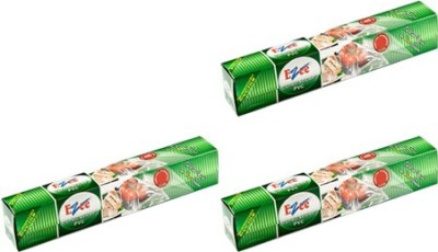 Ezee Cling Film Shrinkwrap 100 Mtr 12 Inches Width Pack Of 3 Shrinkwrap(Pack of 3, 100 m)