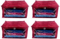 Addyz Plain Pack of 4 Pisces Plain Large Satin Saree Salwar Suit Kamiz Cover Storage Bag(Maroon)