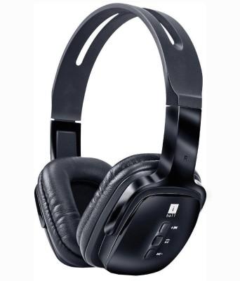 iBall pulse bt4 Wireless bluetooth Headphones(Black, Over the Ear)