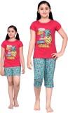 Punkster Kids Nightwear Girls Printed Co...