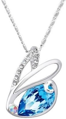 Yellow Chimes Crystals from Swarovski Rhodium Alloy Pendant at flipkart