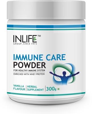 Inlife Immune Care Protein Powder Whey Protein(300 g, Vanilla)