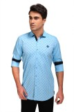 Fisher Men's Printed Casual Light Blue S...