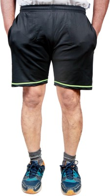 HPS Sports Solid Men & Women Black, Light Green Sports Shorts at flipkart